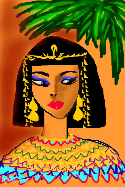 CLEOPATRA ← a character Speedpaint drawing by Sketchpad ...