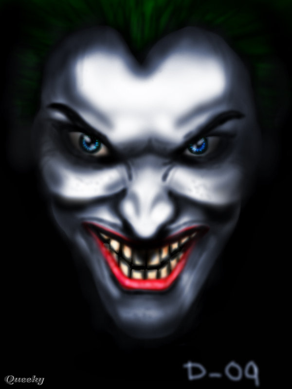 the joker a character speedpaint drawing by demian09 queeky
