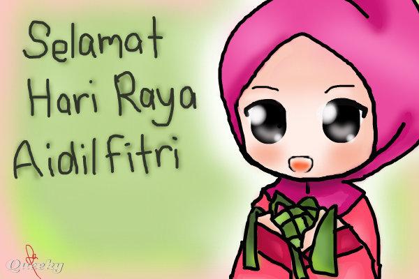 Hari raya,... ← a character Speedpaint drawing by 1993 ...