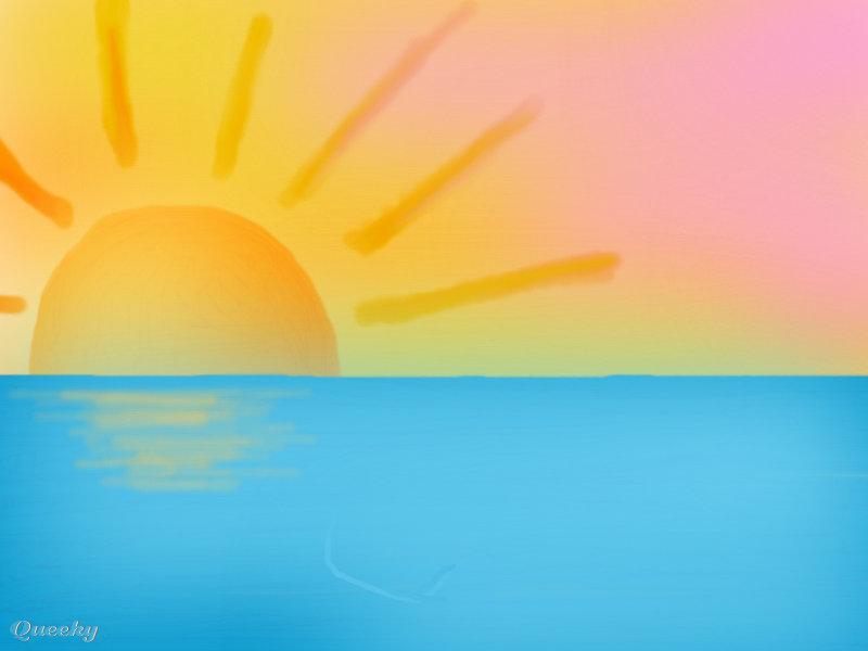 Line Drawing Setting Sun : Sun set ← a ecards speedpaint drawing by cuteblackshadow