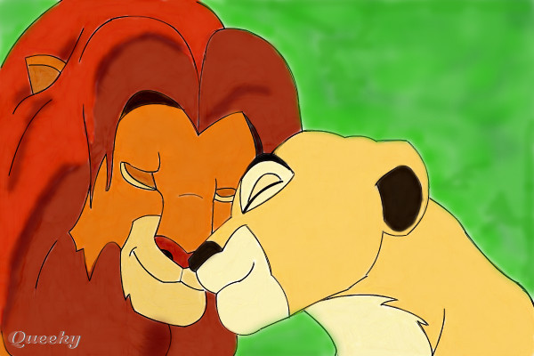 how to draw simba and nala