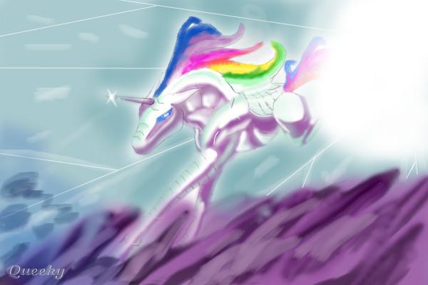 Robot Unicorn Attack A Fan Art Speedpaint Drawing By