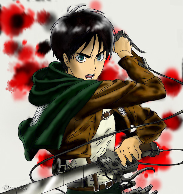 Eren Jaeger Colored ← a fan-art Speedpaint drawing by ...