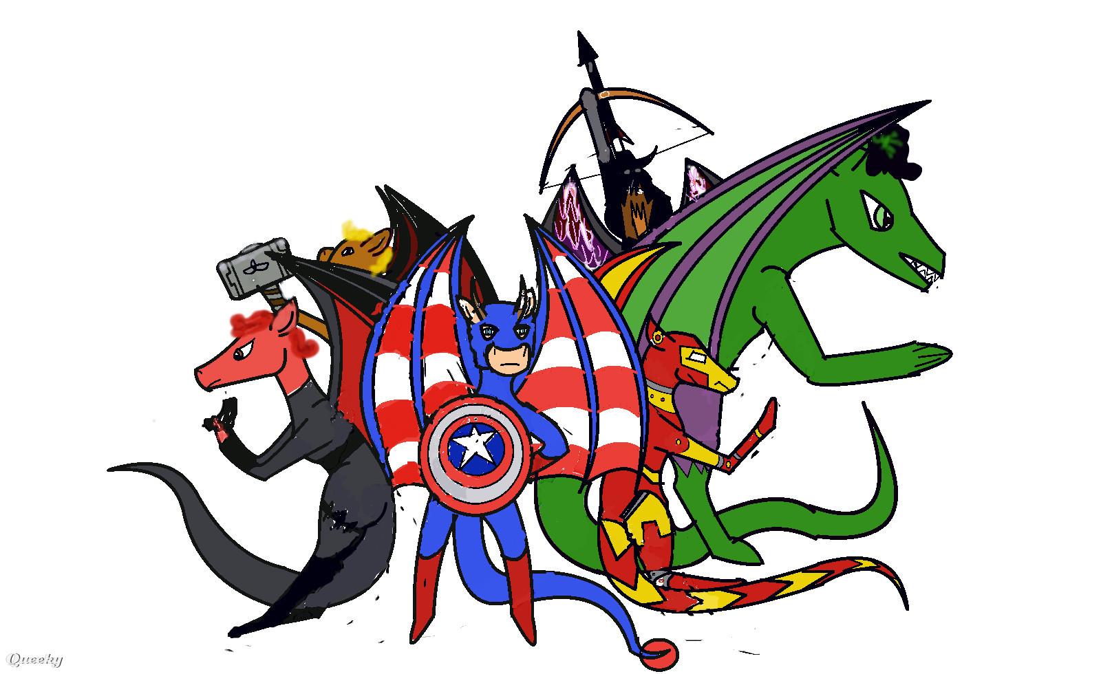 the avengers dragon form a fan art speedpaint drawing by
