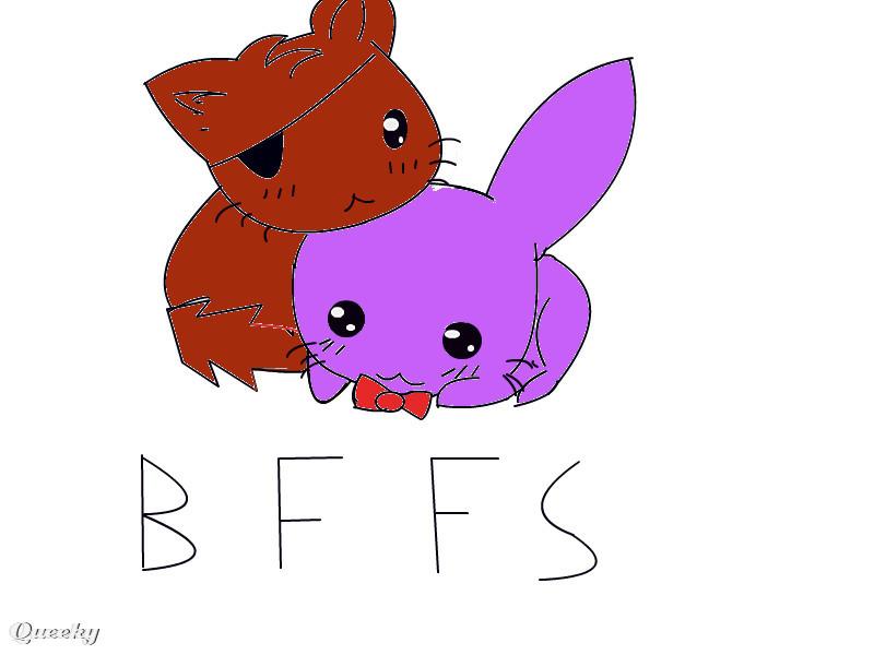Fnaf foxy and bonnie cute a fan art speedpaint drawing - Fnaf cute pictures ...