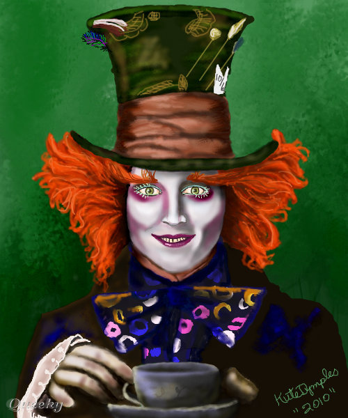 how to draw the mad hatter tim burton