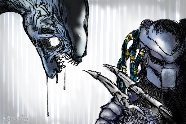 aliens vs predator drawings - photo #18
