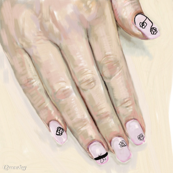 Nail art Roses ← a fantasy Speedpaint drawing by ...