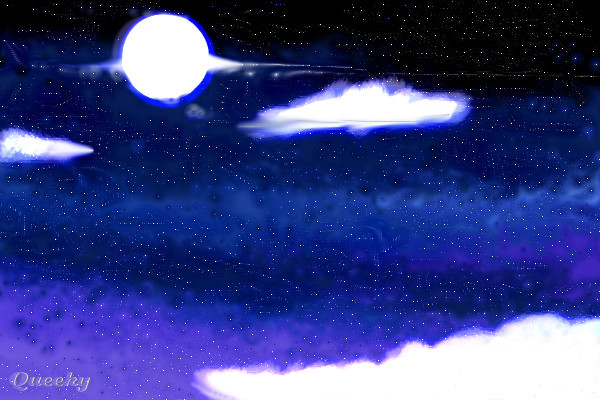 The Night Sky 2 A Fantasy Speedpaint Drawing By Jennawolf48