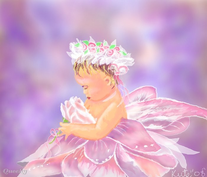 Baby fairy ← a fantasy Speedpaint drawing by Kutedymples  Queeky