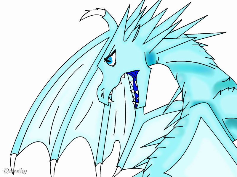 How To Draw Easy Ice Dragon
