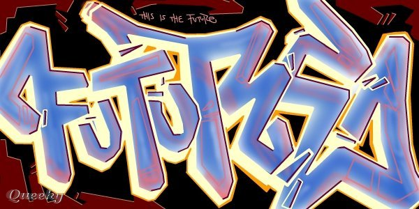 this is the future  u2190 a graffiti speedpaint drawing by