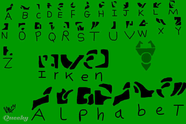 Irken Alphabet ← a graffiti Speedpaint drawing by Luxybuxy ...