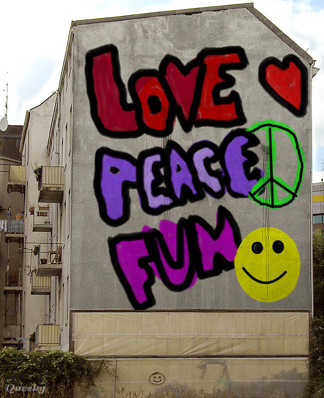 how to draw the word peace is love in graffiti