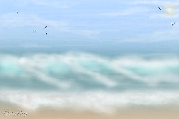 Ocean waves ← a landscape Speedpaint drawing by ...
