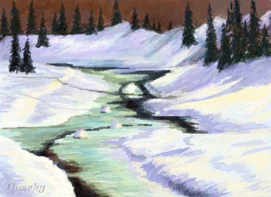 winter landscape � a landscape speedpaint drawing by