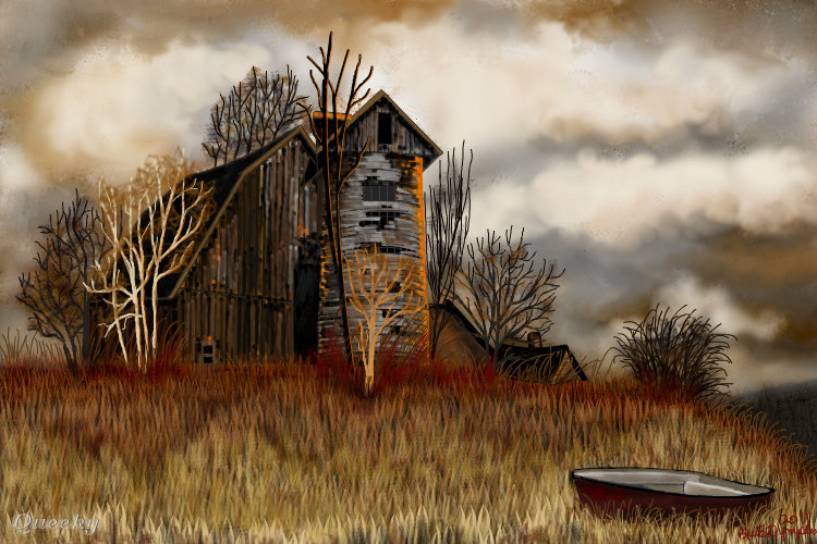 The Old Barn A Landscape Speedpaint Drawing By Kutedymples