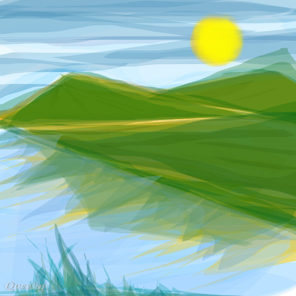 Greenery A Landscape Speedpaint Drawing By Rosebuddy