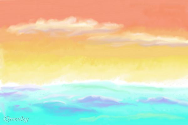 Simple Sunset A Landscape Speedpaint Drawing By Ellenwil