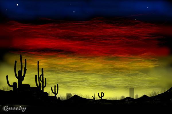 arizona dusk  u2190 a landscape speedpaint drawing by marky