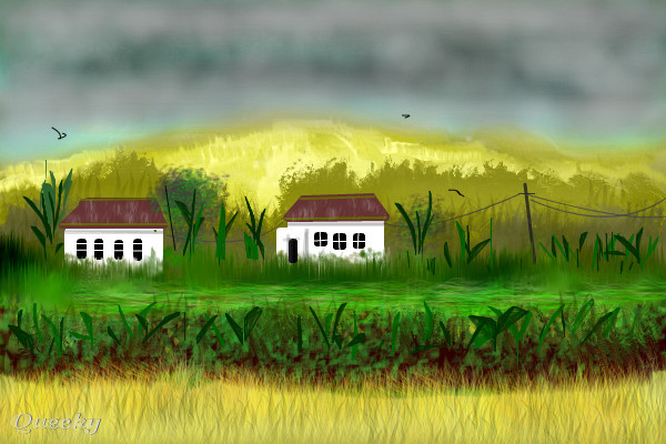 how to draw a plantation
