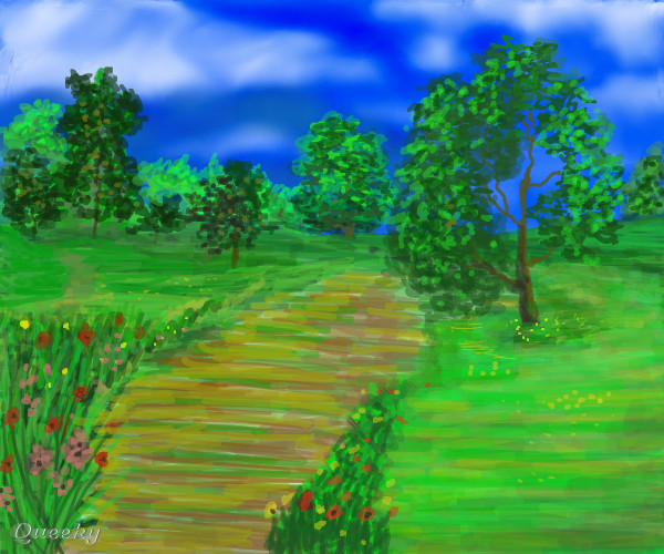 English garden ← a landscape Speedpaint drawing by Vader666 ...