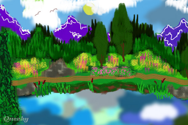 Peace And Tranquility A Landscape Speedpaint Drawing By