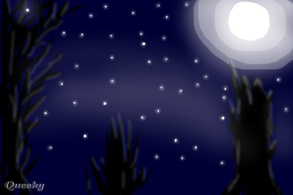 Moon and Star Drawings