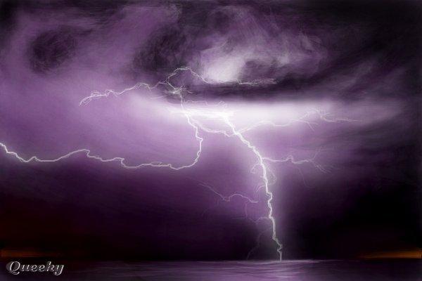 purple lightning  u2190 a landscape speedpaint drawing by