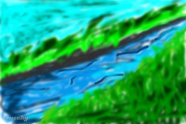 flowing river cartoon - photo #46
