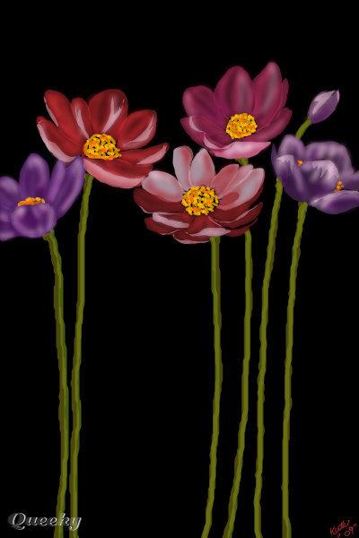 tall flowers  u2190 a landscape speedpaint drawing by