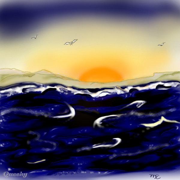 Ocean Landscape Drawings