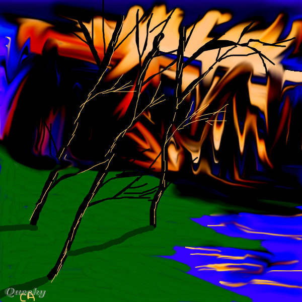 FOREST FIRE ← a landscape Speedpaint drawing by Sketchpad ...