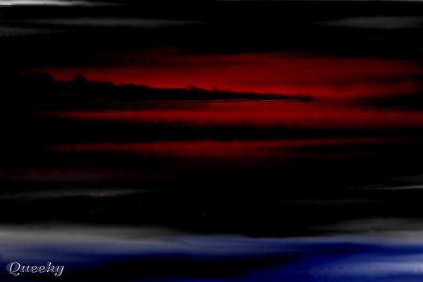 red sky at night � a landscape speedpaint drawing by