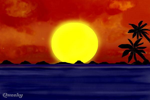 heaven in paradise  u2190 a landscape speedpaint drawing by