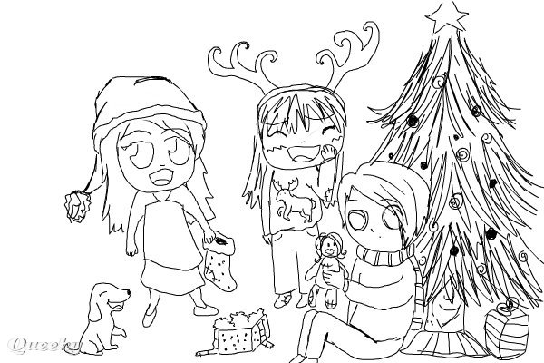 Chibi Christmas A Manga Speedpaint Drawing By Piksik