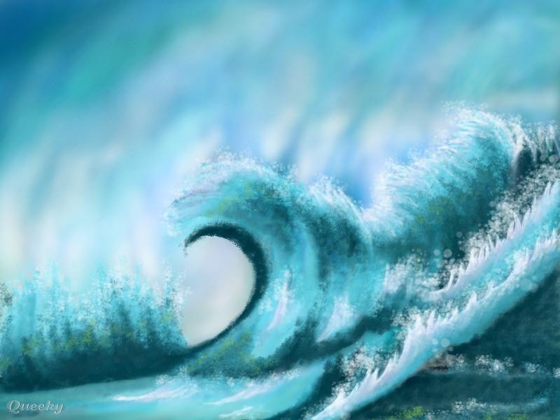 wavey wave  u2190 a objects speedpaint drawing by kutedymples
