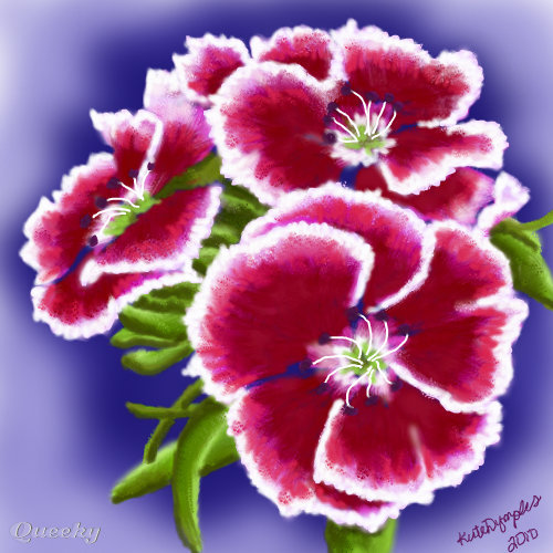Pink and red flowers revamped a ornamental speedpaint drawing by share this artwork mightylinksfo