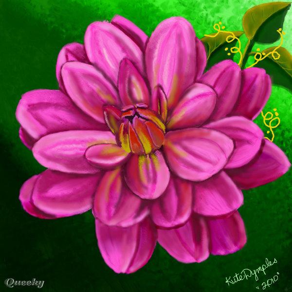 Just a pink flower a ornamental speedpaint drawing by kutedymples just a pink flower mightylinksfo