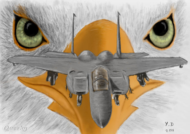 eagle f15  u2190 a other speedpaint drawing by yos33