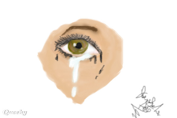 how to draw a teary eye