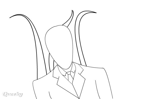 Slender Man Sketch A Other Speedpaint Drawing By