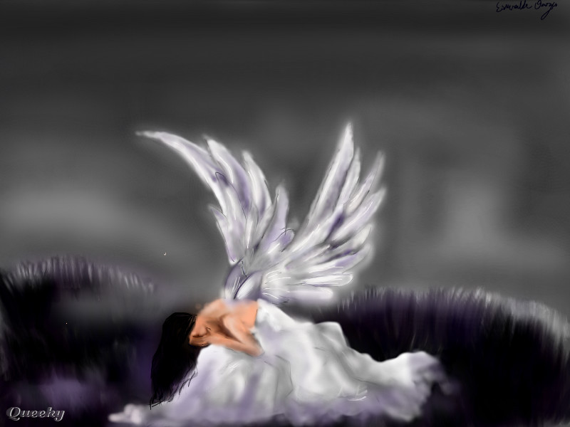 angel in disguise  u2190 a other speedpaint drawing by esmer