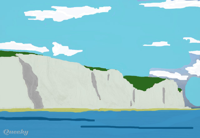 the white cliffs of dover � a other speedpaint drawing by