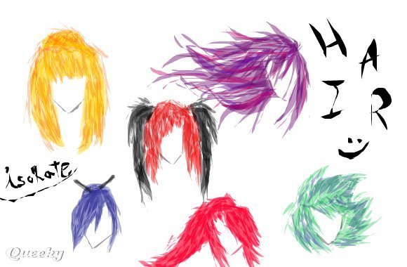 Hairstyles ← a other drawing by Isolayte . Queeky - draw online!