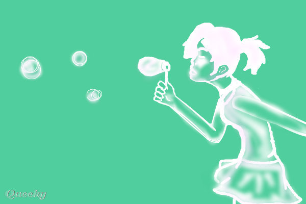 Blowing Bubbles Drawing Girl Blowing Bubbles ""