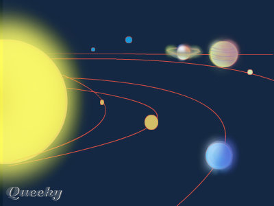 paint in the solar system drawing - photo #12