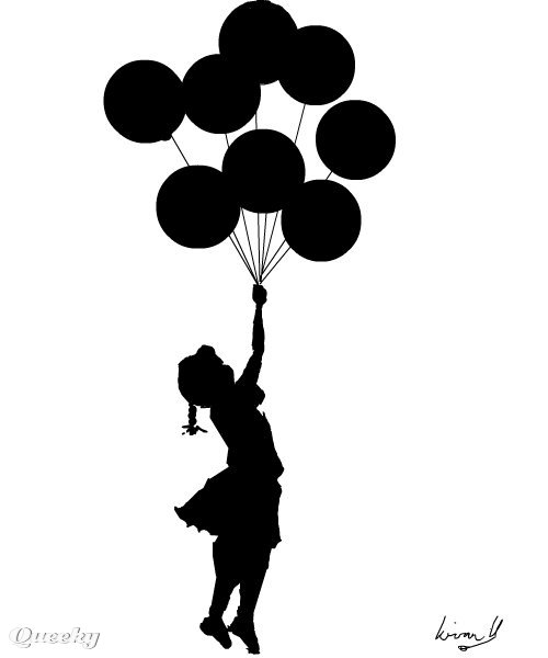 Girl And Balloons A People Speedpaint Drawing By