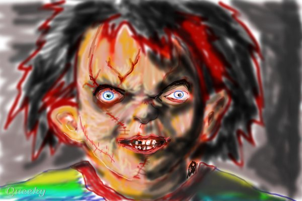 Face the chucky ← a people Speedpaint drawing by ...