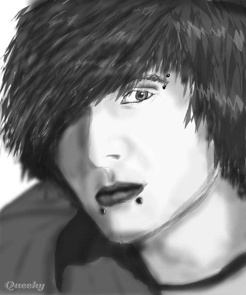 emo boy a people speedpaint drawing by matildavtdr queeky